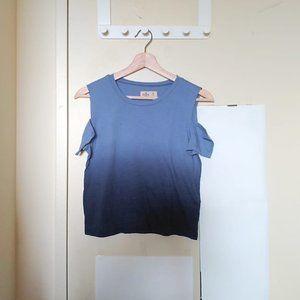 2/$20 Hollister Cold Shoulder ShortSleeve Crop Top
